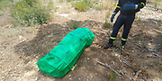 Emergency fire shelters blanket protects fire fighters when caught in a blaze. The protective blanket was developed by NASA and the  U.S. Forest Service