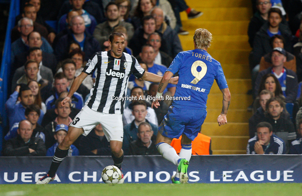 19.09.12 London, ENGLAND: <br /> Giorgio Chiellini of Juventus F.C. <br /> during the UEFA Champions League Group E match between Chelsea and  Juventus at Stamford Bridge Stadium