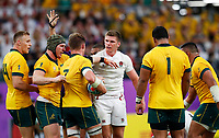 Rugby Union - 2019 Rugby World Cup - Quarter-Final: England vs. Australia<br /> <br /> Owen Farrell of England and Michael Hooper of Australia at Oita Stadium, Oita Prefecture.<br /> <br /> COLORSPORT/LYNNE CAMERON