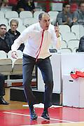 pallacanestro Basketball Champions League<br /> 2016 2017<br /> Palawhirlpool<br /> Varese Openjobmetis vs Asvel : allenatore Paolo MORETTI