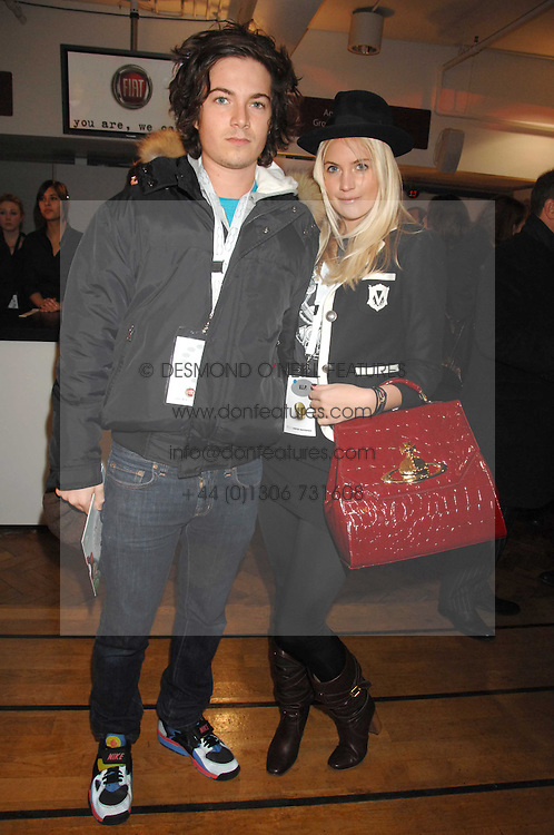 MAX MONTGOMERY and his sister MARISSA MONTGOMERY at a party to celebrate the launch of the new Fiat 500 car held at the London Eye, Westminster Bridge Road, London on 21st January 2008.<br /> <br /> NON EXCLUSIVE - WORLD RIGHTS (EMBARGOED FOR PUBLICATION IN UK MAGAZINES UNTIL 1 MONTH AFTER CREATE DATE AND TIME) www.donfeatures.com  +44 (0) 7092 235465