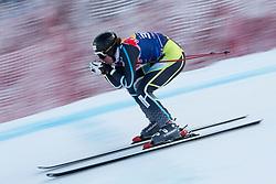 KITZBUHEL AUSTRIA. 22-01-2011. Kjetil Jansrud (NOR) speeds down the course competing in the 71st Hahnenkamm downhill race part of  Audi FIS World Cup races in Kitzbuhel Austria.  Mandatory credit: Mitchell Gunn