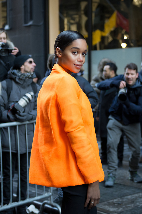 Laura Harrier at Calvin Klein FW2017