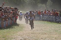 31/07/2010 MOUNTAIN BIKE UCI WORLD CUP, VAL DI SOLE, ITALY, 2010 .Nino SCHURTER .© Photo Pierre Teyssot / Sportida.com.