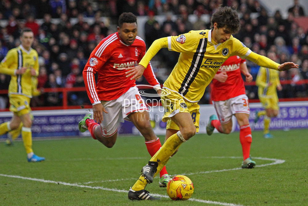 Diego Fabbrini during the Sky Bet Championship match between Nottingham Forest and Millwall at the City Ground, Nottingham, England on 31 January 2015. Photo by Jodie Minter.