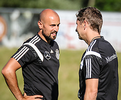 01.07.2016, Athletic Area, Schladming, AUT, U19 EURO, Vorbereitung Deutschland, DFB U19 Junioren, im Bild von links Co-Trainer Antonio di Salvo, Cheftrainer Guido Streichsbier // during a training camp of Team Germany for preparation for the UEFA European Under-19 Championship at the Athletic Area, Austria on 2016/07/01. EXPA Pictures © 2016, PhotoCredit: EXPA/ Martin Huber