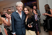 Bob Geldof; Jeanne-Marine;, Piccadilly theatre's Ghost The Musical Opening night party. Corinthia Hotel. Whitehall Place. London. 19 July 2011. <br /> <br />  , -DO NOT ARCHIVE-© Copyright Photograph by Dafydd Jones. 248 Clapham Rd. London SW9 0PZ. Tel 0207 820 0771. www.dafjones.com.