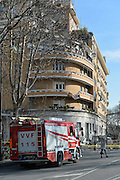 Jan. 24, 2016 - Rome, Italy - <br /> <br /> Collapsed building on the Tiber Flaminio, at Rome on January 22, 2016  ©Exclusivepix Media