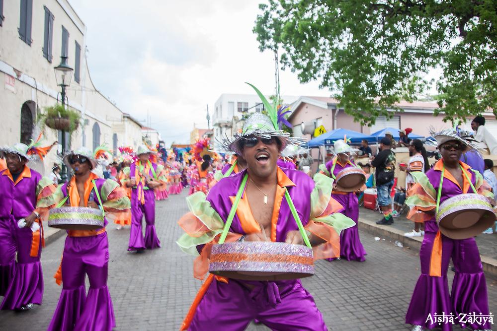 The Jesters make their way down the Carnival route.  Carnival 2017 Adults' Parade.  Charlotte Amalie.  St. Thomas, USVI.  29 April 2017.  © Aisha-Zakiya Boyd