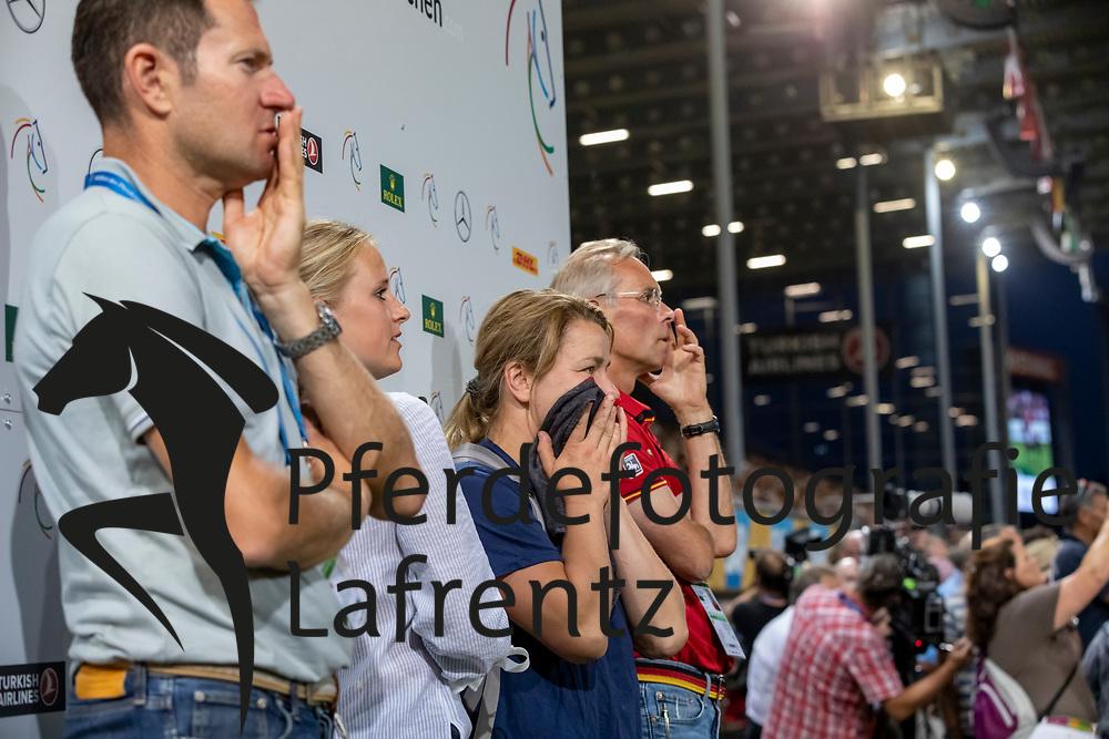 GOSKOWITZ Günther, TEBBEL Justine (GER)<br /> Aachen - CHIO 2018<br /> Mercedes Benz Nationenpreis<br /> 19. Juli 2018<br /> © www.sportfotos-lafrentz.de/Stefan Lafrentz
