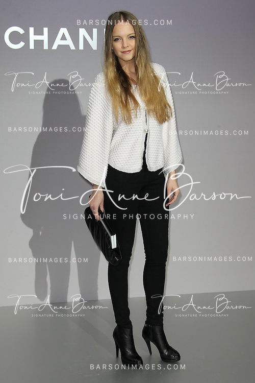 PARIS, FRANCE - MARCH 06:  Laura Hayden attends the Chanel Ready-To-Wear Fall/Winter 2012 show as part of Paris Fashion Week at Grand Palais on March 6, 2012 in Paris, France.  (Photo by Tony Barson/WireImage)