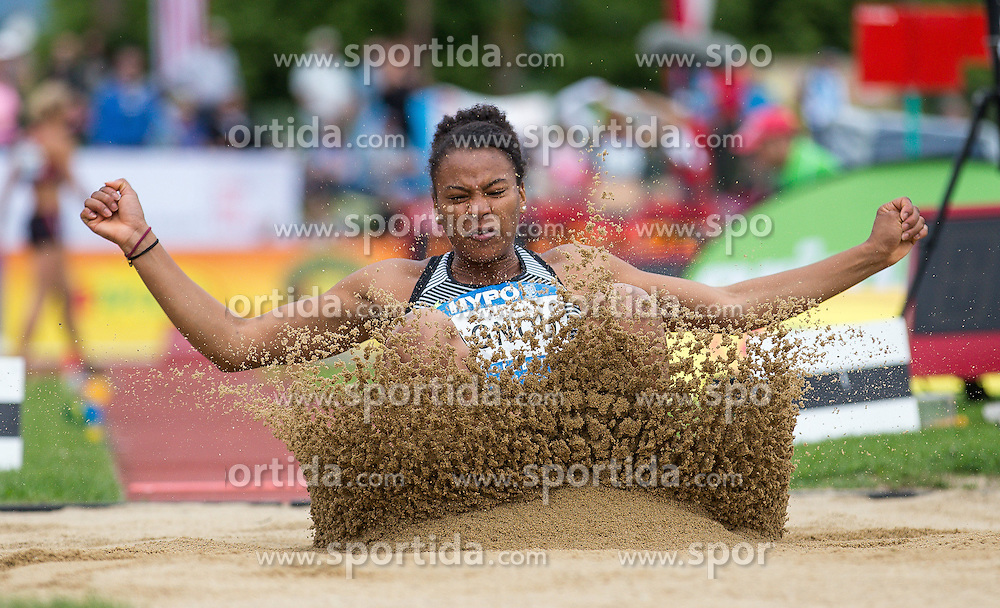29.05.2016, Moeslestadion, Goetzis, AUT, 42. Hypo Meeting Goetzis 2016, Siebenkampf der Frauen, Weitsprung, im Bild Caroline Agnou (SUI) // Caroline Agnou of Switzerland in action during the long jump event of the Heptathlon competition at the 42th Hypo Meeting at the Moeslestadion in Goetzis, Austria on 2016/05/29. EXPA Pictures © 2016, PhotoCredit: EXPA/ Peter Rinderer