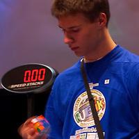 Rubik's Cube World Championship held in Hungary to honor the inventor Erno Rubik. Budapest, Hungary. Saturday, 06. October 2007. ATTILA VOLGYI