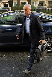 © Licensed to London News Pictures. 06/01/2016. London, UK. Former Chelsea Football Club manager JOSE MOURINHO arrives back at his home in west London on the day that former Chelsea team doctor Eva Carneiro appeared at Croydon Employment Tribunal. Photo credit: Ben Cawthra/LNP