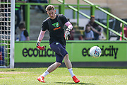 Forest Green Rovers goalkeeper Bradley Collins(1) warming up during the EFL Sky Bet League 2 match between Forest Green Rovers and Grimsby Town FC at the New Lawn, Forest Green, United Kingdom on 5 May 2018. Picture by Shane Healey.