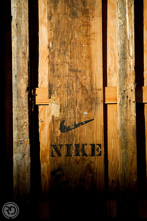 Nike Shipping Crate at McCormick Place for the 10.10.10 Chicago Marathon.Chicago, IL ..Photograph by Ross Dettman