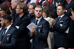 LIVERPOOL, ENGLAND - Friday, April 15, 2016: Liverpool's captain Jordan Henderson during the 27th Anniversary Hillsborough Service at Anfield. (Pic by David Rawcliffe/Propaganda)
