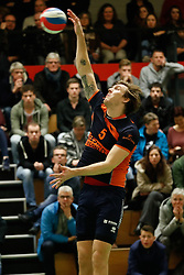 20170125 NED: Beker, Sliedrecht Sport - Seesing Personeel Orion: Sliedrecht<br />Joris Marcelis (5) of Seesing Personeel - Orion<br />&copy;2017-FotoHoogendoorn.nl / Pim Waslander