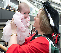 27/02/2014 XX job Jude Lohan  with her 3 month old Michelle from Four road Roscommon  who got a Phd in Philosophy from NUIG. Photo:Andrew Downes