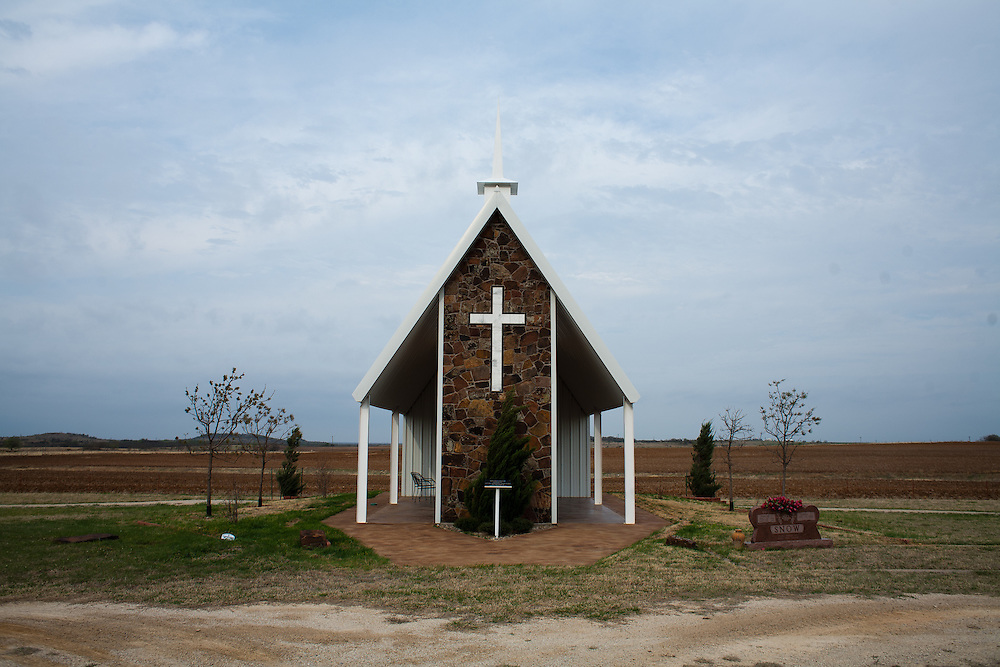 The Loving Cemetery backs into farmland in north Texas.