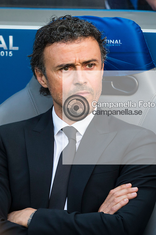 BERLIN, GERMANY - June 6th 2015:<br /> <br /> FC Barclona coach Luis Enrique during the UEFA Champions League Final between Juventus FC and FC Barcelona at Olympiastadion in Berlin, Germany on June 6th 2015. (Photo: Michael Campanella)
