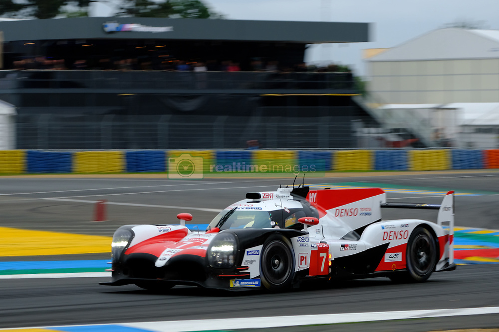 June 15, 2018 - Le Mans, Sarthe, France - Toyota Gazoo Racing Toyota TS050 Hybrid Driver JOSE MARIA LOPEZ (ARG) in action during the 86th edition of the 24 hours of Le Mans 2nd round of the FIA World Endurance Championship at the Sarthe circuit at Le Mans - France (Credit Image: © Pierre Stevenin via ZUMA Wire)