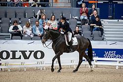 VILHELMSON SILFVÉN Tinne (SWE), Don Auriello<br /> Göteborg - Gothenburg Horse Show 2019 <br /> FEI Dressage World Cup™ Final I<br /> Int. dressage competition - Grand Prix de Dressage<br /> Longines FEI Jumping World Cup™ Final and FEI Dressage World Cup™ Final<br /> 05. April 2019<br /> © www.sportfotos-lafrentz.de/Stefan Lafrentz