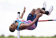 Mutaz Essa Barshim (QAT) wins the high jump at 7-10½ (2.40m) during the Grand Prix Birmingham in an IAAF Diamond League meet at Alexander Stadium in Birmingham, United Kingdom on Sunday, August 20, 2017. (Jiro Mochizuki/Image of Sport)