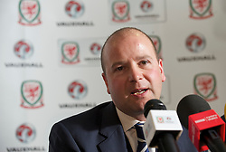 CARDIFF, WALES - Wednesday, January 12, 2011: Wales' Chief-Executive Jonathan Ford during a press conference to announce that British car manufacturer Vauxhall is to become the official leading sponsorship partner to the Wales international football teams, at Cardiff City Stadium. (Pic by: David Rawcliffe/Propaganda).+++ THIS IMAGE IS FREE TO USE IN CONJUNCTION WITH EDITORIAL OF VAUXHALL'S SPONSORSHIP OF THE FAW. +++