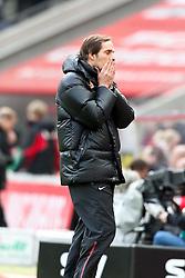 13.02.2010,  Rhein Energie Stadion, Koeln, GER, 1.FBL, FC Koeln vs Mainz 05, 22. Spieltag, im Bild: Thomas Tuchel (Trainer Mainz) enttaeuscht / enttäuscht  / haelt sich die Haende vors Gesicht EXPA Pictures © 2011, PhotoCredit: EXPA/ nph/  Mueller       ****** out of GER / SWE / CRO  / BEL ******