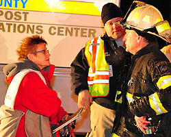 2/9/2011 Allentown, PA Emergency crews respond to a massive explosion Wednesday night in the area of 13th and Allen Street. Emergency Officials discuss the explosion. Express-Times Photo |CHRIS POST
