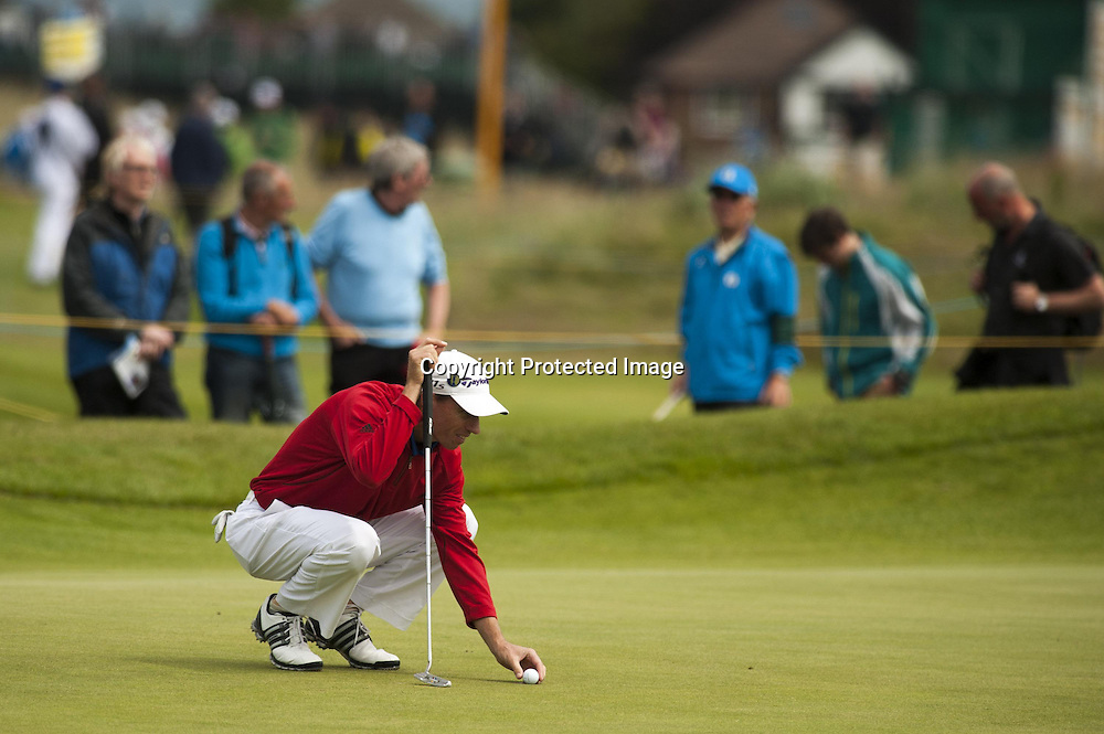 19-07-2012 European Tour 2012, THE 141st OPEN Championship, Royal Lytham & St. Annes GC, Lytham St. Annes, Lancashire, England, UK. 15- 22 Jul. Steven  Alker of New Zealand during the first round.