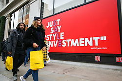 © Licensed to London News Pictures. 26/12/2018. London, UK. Tens of thousands of shoppers take advantage of post-Christmas bargains on Oxford Street during the Boxing Day sales. According to a recent study, 150,000 jobs have been lost during 2018 as troubled UK high-street retailers are hit by high business property tax and rising online sales. Photo credit: Dinendra Haria/LNP