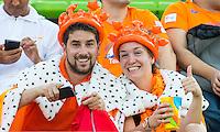 IO DE JANEIRO -  wOranje supporters tijdens de finale tussen de dames van Nederland en  Groot-Brittannie in het Olympic Hockey Center tijdens de Olympische Spelen in Rio. COPYRIGHT KOEN SUYK