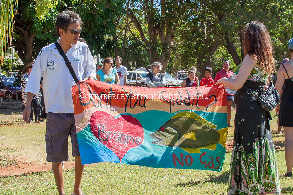Craig Hamaguchi and Lou Beames at the Broome Families gathering in Broome