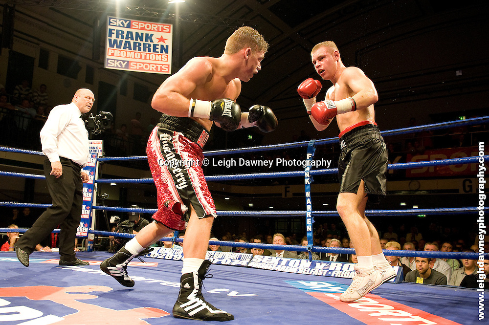 Billy Joe Saunders defeats Alex Spitko at York Hall, Bethnal Green 9th ocotber 2009. Frank Warren Promotions.Credit: ©Leigh Dawney Photography