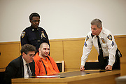 BROOKLYN, NY-- Maksim Gelman, 24, was sentenced in Brooklyn Supreme Court on the afternoon of Wednesday, January 18, 2012.  Gelman pled guilty to attempted murder in connection with his attack on a subway passenger on February 12, 2011.  <br /> <br /> CREDIT: Andrew Hinderaker for the Wall Street Journal