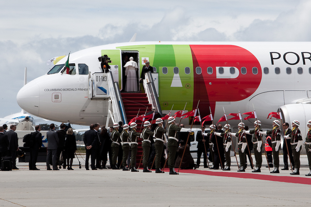 Pope Benedict XVI leaves after a four-day visit to Portugal, one of the countries with the highest percentage of Catholics in Europe, Sa Carneiro Airport, Oporto, Portugal.