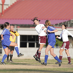 2 December 2008: St. Thomas Aquinas  Charlotte Raphael (#3) during the St. Thomas Lady Falcons 5-2 loss to Country Day in a non-district soccer match at Falcons Soccer Field in Hammond, LA.