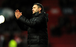 Bristol City Head Coach Lee Johnson thanks fans at the final whistle-Mandatory by-line: Nizaam Jones/JMP - 18/01/2020 - FOOTBALL - Ashton Gate - Bristol, England - Bristol City v Barnsley - Sky Bet Championship