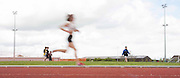 Meath Athletics track & field championships at Claremount stadium 16th May 2010<br /> Subsequent winner, Mary Hanley (Na Fianna) pictured in the early stages of the ladies 3000m final<br /> Photo: David Mullen /www.cyberimages.net