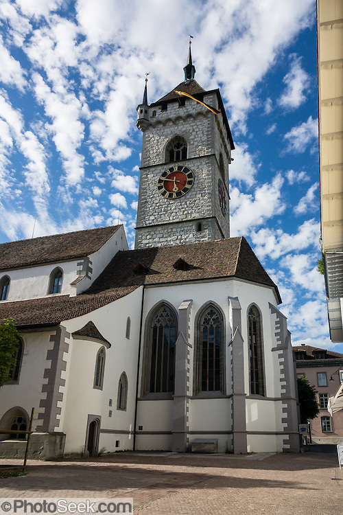 St. Johann Church in Schaffhausen, Switzerland, Europe.