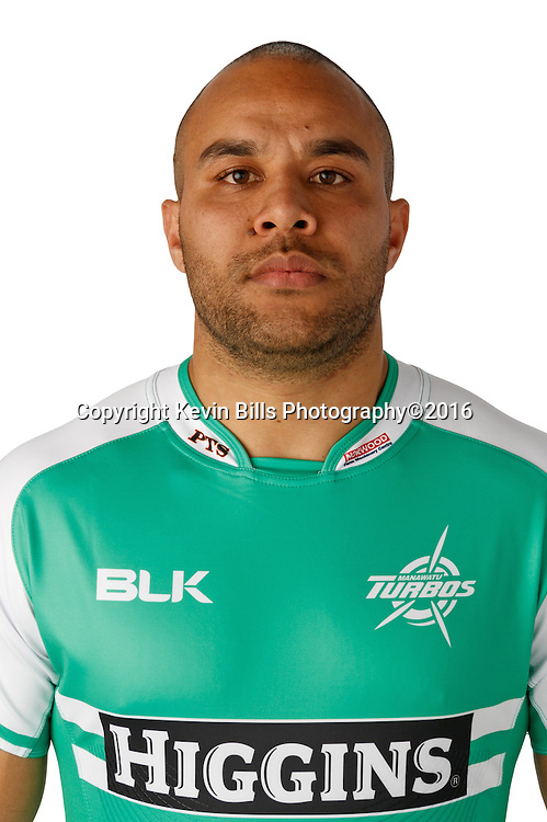 Nathan Tudreu.<br /> Headshots of the Manawatu Tubos rugby team to compete in the 2016 season of the Mitre 10 Cup Premiership.<br /> Photo credit: www.manawaturugby.co.nz