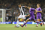 Juventus Defender Alex Sandro during the Champions League Final between Juventus and Real Madrid at the National Stadium of Wales, Cardiff, Wales on 3 June 2017. Photo by Phil Duncan.