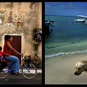 DAILY VENEZUELA II / VENEZUELA COTIDIANA II<br /> Photography by Aaron Sosa <br /> <br /> Left: Guasdualito, Apure State - Venezuela 2007 / Guasdualito, Estado Apure - Venezuela 2007<br /> <br /> Right: Archipielago de Los Roques - Venezuela 2005.<br /> <br /> (Copyright © Aaron Sosa)