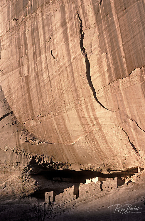 Evening light on White House Ruin, Canyon de Chelly National Monument, Arizona USA