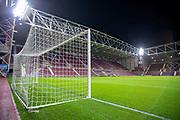 General view inside Tynecastle Park, Edinburgh, Scotland before the Ladbrokes Scottish Premiership match between Heart of Midlothian and Livingston on 6 February 2019.