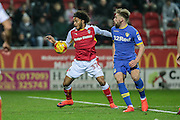 Isaiah Brown (on loan from Chelsea) (Rotherham United) controls the ball during the EFL Sky Bet Championship match between Rotherham United and Leeds United at the New York Stadium, Rotherham, England on 26 November 2016. Photo by Mark P Doherty.