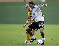 Fotball / Football<br /> La Manga - Spain<br /> 21.02.2007<br /> Odd Grenland v Start 1-4<br /> Foto: Morten Olsen, Digitalsport<br /> <br /> Olof Hviden-Watson - Odd<br /> Kristoffer Paulsen - Start