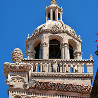 Cupola of St. Mark&rsquo;s Cathedral in Korčula, Croatia<br />